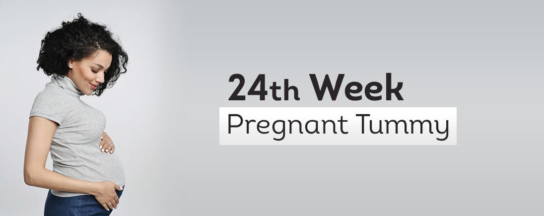 24 Week Pregnant Tummy 1