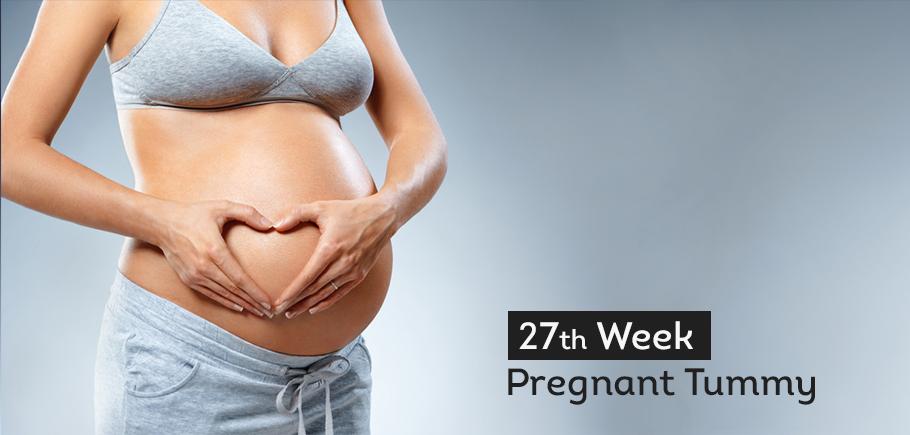 27 th Week Pregnant Tummy 1