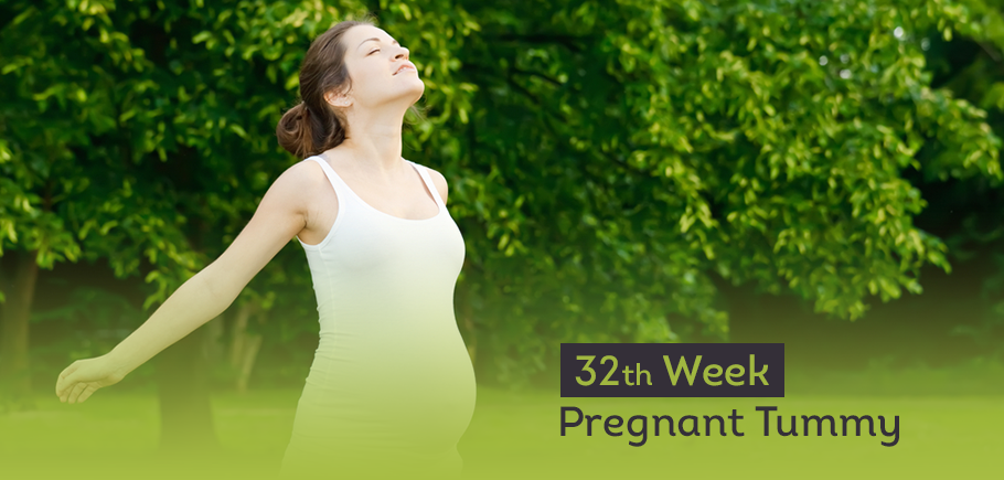 32th Week Pregnant Tummy 1
