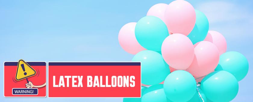 2. Latex balloons