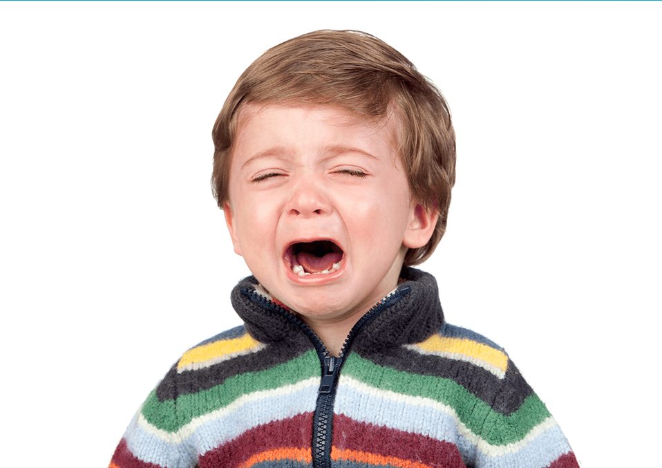 a kid crying 3 years old