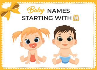 Baby names  starting with M
