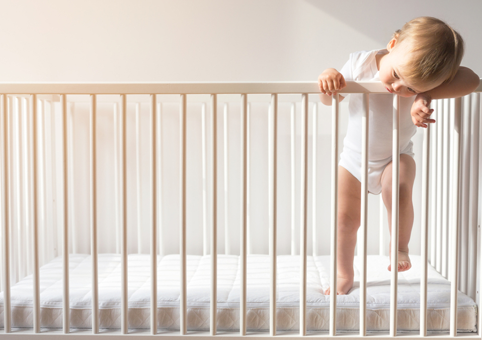 How to prevent toddler from climbing out of the crib