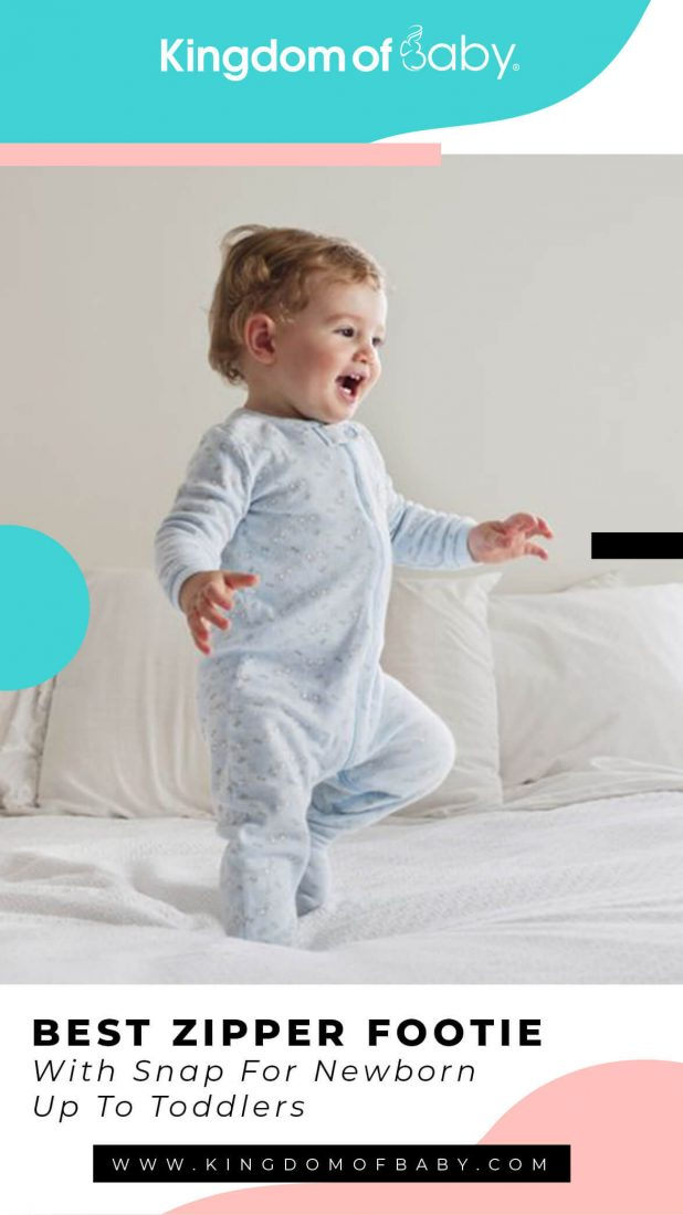 Best Zipper Footie With Snap for Newborn Up to Toddlers