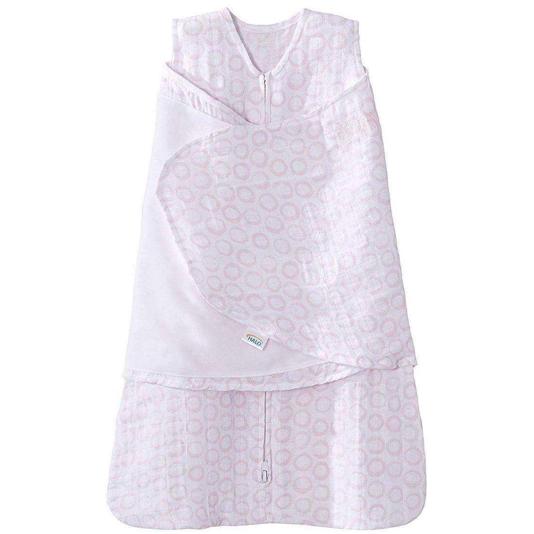 Newborn Halo 100/% Cotton Sleepsack Swaddle Wearable Blanket Aqua Sheep