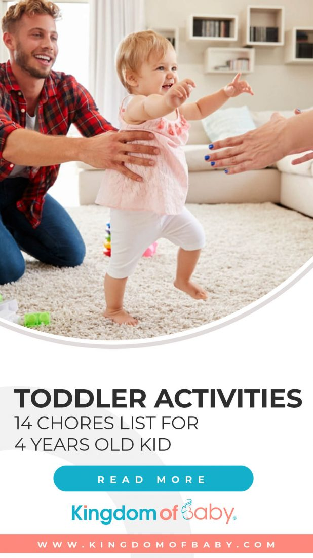 Toddler Activities: 14 Chores List for 4 Years Old Kid
