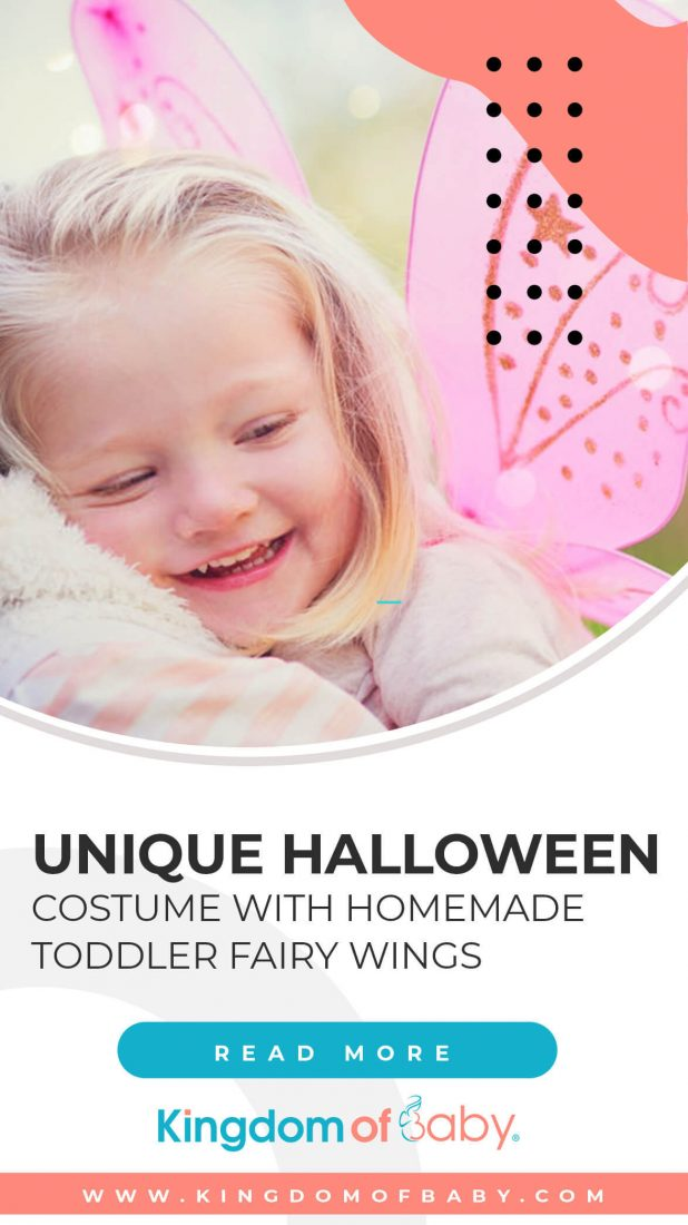Unique Halloween Costume with Homemade Toddler Fairy Wings